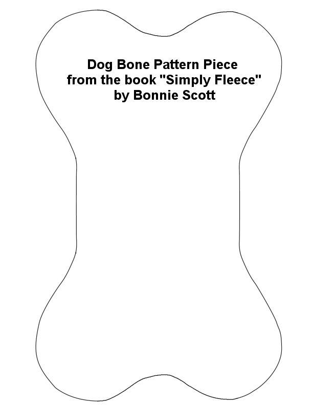 Dog bone pattern piece