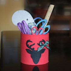 Coffee Container DIY With Deer Appliqu�