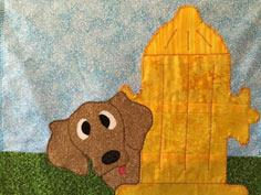 Fire Hydrant Dog Applique