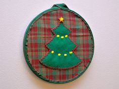 Christmas Tree LED Embroidery