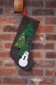 Snowman Stocking With Pattern