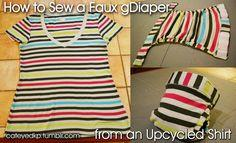 sewing a faux gDiaper cover