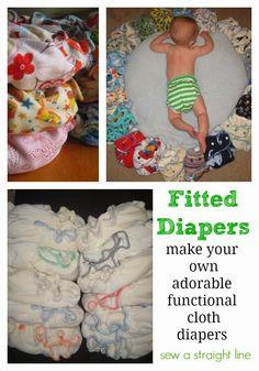 making of a fitted diaper