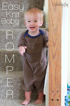 easy knit baby romper