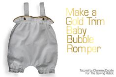 Gold Trimmed Baby Romper