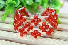 Embellished Red Bead Weaving