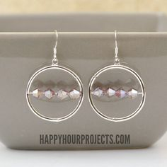 BEADED FRAME EARRINGS