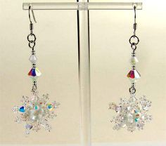 Earrings Snowflakes