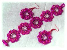 Bracelet And Earrings Peony