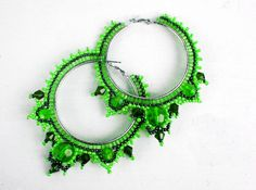 Earrings Green Tea