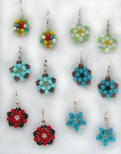 Pretty Beaded Earrings Floweret
