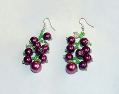 Beaded Earrings Currant
