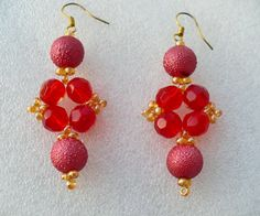 Beaded Earrings Avadavat