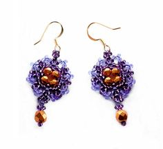 Beaded Earrings Violet