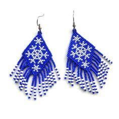 Peyote Earrings Snowflakes