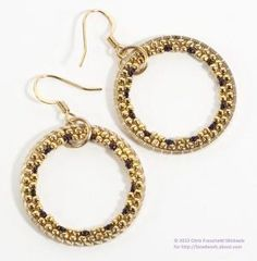Brick Stitch Hoop Earrings