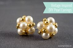 Vintage Inspired Pearl Earrings