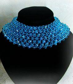Blue Beaded Necklace Ocean