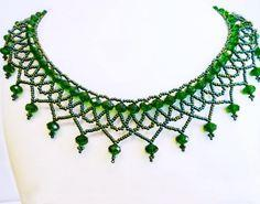 Free Pattern For Beaded Necklace Lime