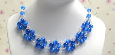 Simple Royal Blue Beaded Necklace