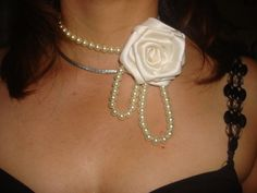 Rose beaded necklace