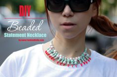 DIY Beaded Statement Necklace.
