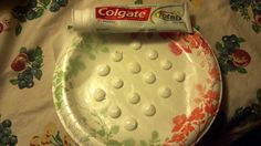 toothpaste dots