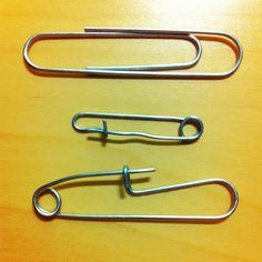 Paperclip Safety Pins