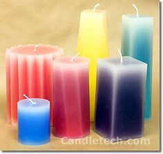 Pillar Candles With Faded Edges