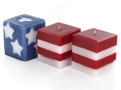 Stars and Stripes Candles
