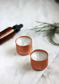 DIY Copper Candle