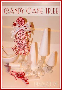 Candy Cane Topiary Trees