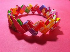 Bracelet Out Of Candy Wrappers