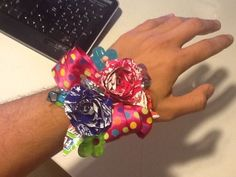 Candy Wrapper Corsage