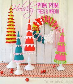 Make Holiday PomPom Trees!