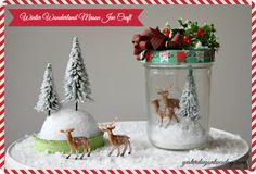 Winter Wonderland Mason Jar Craft