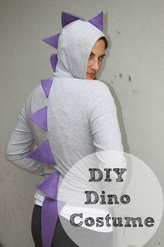 Cheap and Easy DIY Dinosaur Costume