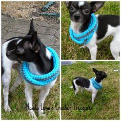 Crochet Infinity Scarf for Pup