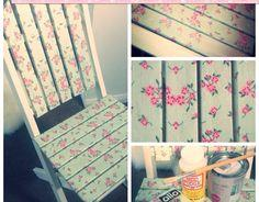 Adorable Upcycled Decoupage Chair
