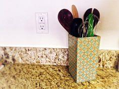 decoupage utensil holder