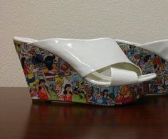 Shoes with Decoupage