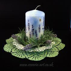 Decoupage on candle