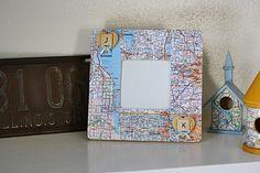 Road Map Picture Frame