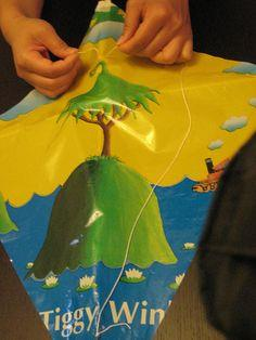 Kite-Making Using Recycled Materials