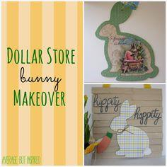 Dollar Store Easter Bunny Decor