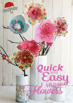 quick and easy fabric flowers