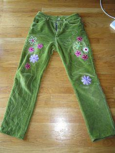 Pants with Machine Embroidery