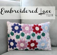 Embroidered Lace Pillow