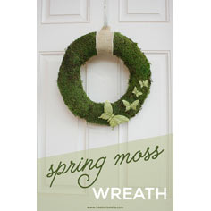 Spring Moss Wreath with Butterflies