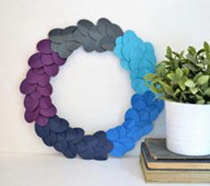 ombre paper wreath + home making tips